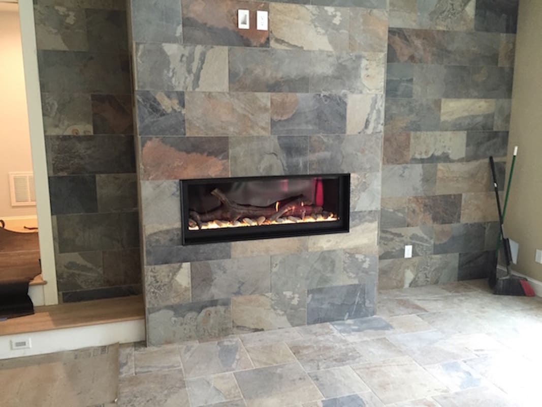 Tile Fireplace