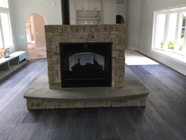 Center Stone Fireplace